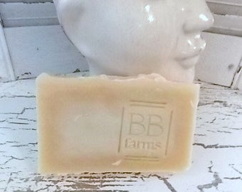 Homemade Large 5-6oz Bar of Natural Handmade Soap in SWEET GRASS