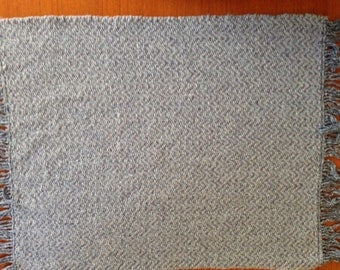 Handwoven placemats in stonewash blue, set of 4