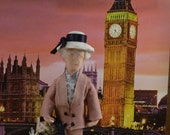 Joan Hickson as Miss Marple, Agatha Christie Character, Mystery Literature, Art Doll Miniature
