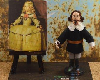 Diego Velazquez Spanish Painter Diorama Scene Miniature Art Famous Artist