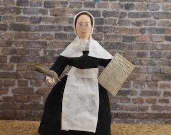 Anne Bradstreet Doll Miniature Sized American Poet Bookworm Gift