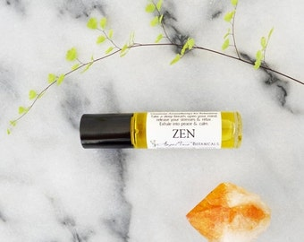 SALE - Zen Gemstone Aromatherapy for Relaxation - Aromatherapy Potion for Stress Relief - Reiki Infused Organic Roll-on Aromatherapy Oil Pot