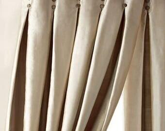 Custom Pleated Drapes and Shades