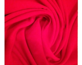 Rich Red - Large Fabric Panel Piece Synthetic Knit Craft Quilt Sew Yardage