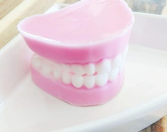 Funny Dad Gift, Dad, Denture Soap, Fake Tooth, Dentures, False Teeth, Over the Hill Gift, Funny Gifts, Gag Gift, Dentist gifts