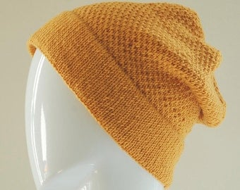 Yellow Slouch Beanie