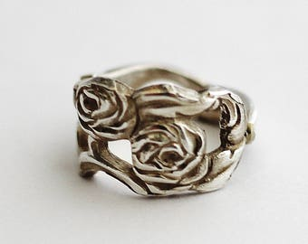 Spoon Ring, Nils Johan Swedish Silver Plate Demitasse Spoon Necklace, Sweden Size 5 Recycled Silverware, Spoon Jewelry by Hendywood RE13