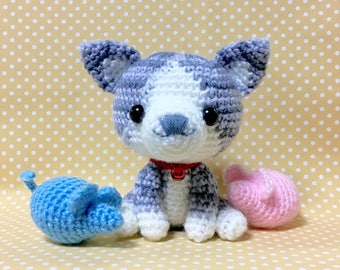 Amigurumi Cat / Crocheted Cat --- Silver Tabby