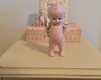 Antique German Miniature Doll Rare Huge Bisque Boy