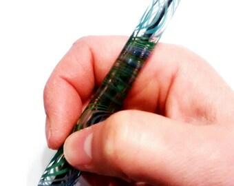 Earthy Colours Blown Glass Ballpoint Pen
