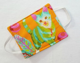 New Improved Door Husher for Babies Room-Bright Cat Tula Pink Fabric Baby Girl