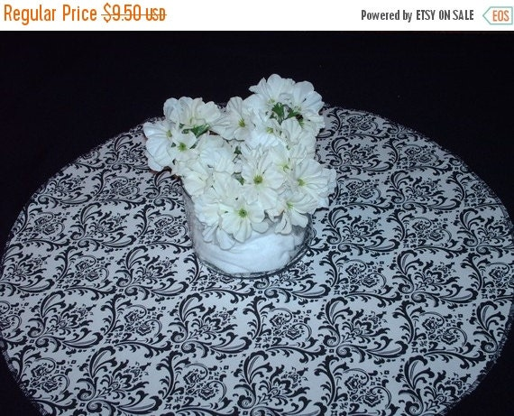 """ON SALE NOW Rounds Damask Colors 20""""  for Centerpieces Madison damask table rounds baby pink fuchsia black red blue lime or other colors"""