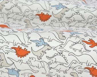 4467 - Dinosaur Cotton Jersey Knit Fabric - 66 Inch (Width) x 1/2 Yard (Length)