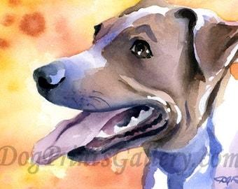 Jack Russel Terrier Art Print Signed by Artist DJ Rogers