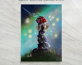 Limited Edition ACEO art print by Erback - Home For The Night - New Edition