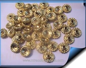 18k GP Vintage Bead Caps 10mm