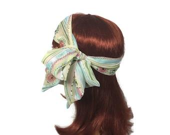 Chiffon Headscarf Pastel Headscarves Chiffon Headscarves Headscarf Summer Headscarves Blue Pink Green Head Scarf Hairscarf Pastel Neckscarf