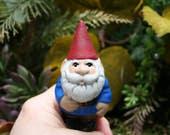 Garden Gnome - Traveling 'Selfie Size' Miniature Concrete Gnome - READY TO SHIP Now
