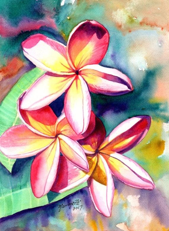 Hawaiian Flower Painting
