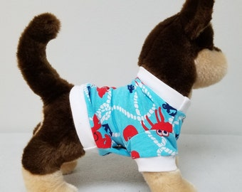 Dog Clothes Fun Lobster Tshirt, Chihuahua, Yorkie