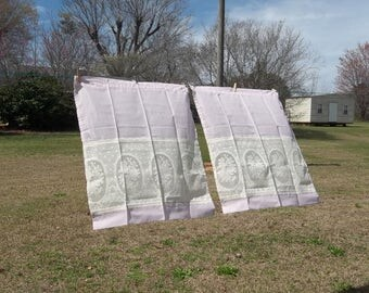 Vintage Pink Cafe Curtains Cameo Lace Rose Garden Curtain