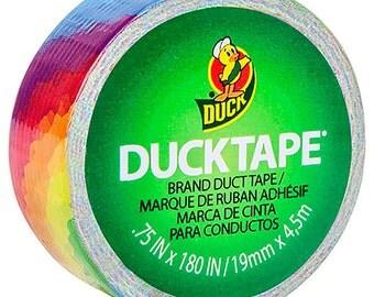 Duck Brand Duct Tape Rainbow - Mini roll 0.75 inch x 15 feet per roll Scrapbooking HC281681 fnt