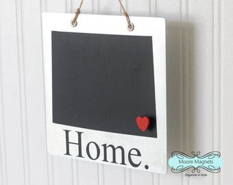 Colorado State Silhouette Home Sign Magnet board with Chalkboard State and Red Heart Magnet