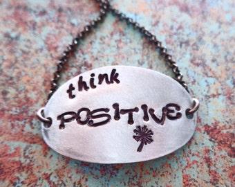 Positive Mantra - Think Positive - Positive Vibes - Daily Affirmation Mantra - Positive Life - Positive Thoughts Bracelet - B54