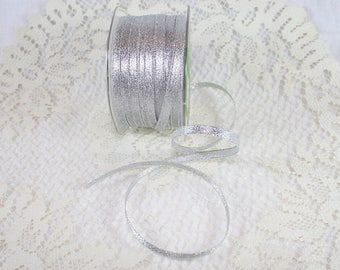"1/4"" Metallic Ribbon - Silver"