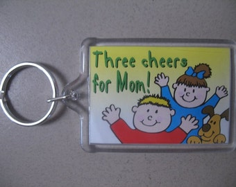Three Cheers For Mom Keychain