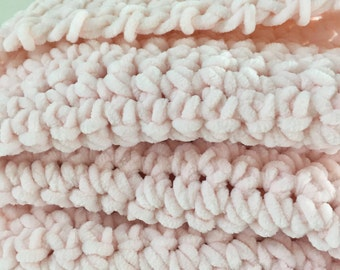 Velvet chenille baby blanket - extra soft - Ballet Pink - choose your color