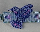 Native American North Coastal Style Beaded Hummingbird Barrette