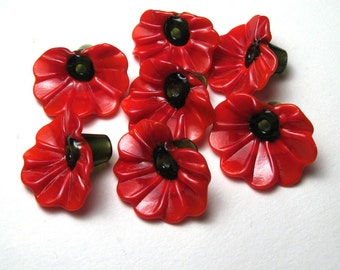 Red Anthurium Flower Lampwork Beads, handmade flamingo flower, Hawaii flower, unique beads, tropical