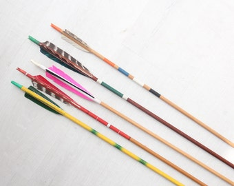 Vintage Archery Arrows - Set of 5