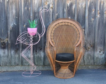 Awesome Pink Flamingo Standing Plant Stand Holder