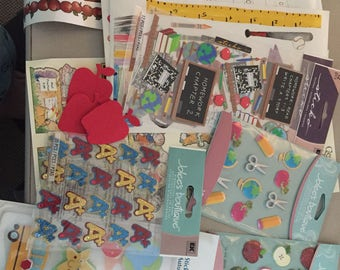10 Sheets of Teacher Stickers plus Scrapbook Diecuts