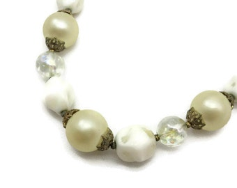 Trifari Beaded Necklace - Bridal Jewelry, Faux Pearls