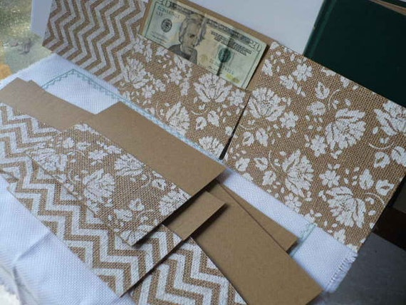 Burlap Cash Envelope, Cash Envelope System, Wedding Cash Envelope, Money Envelopes, Graduation Gift Card Holder, Spring 2017 Gone