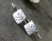 Minimalist Earrings -Handmade-Artisan Earrings - Sterling Silver -OOAK -Dangle Earrings.