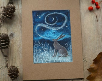 Song to the Moon. Greeting Card with Envelope