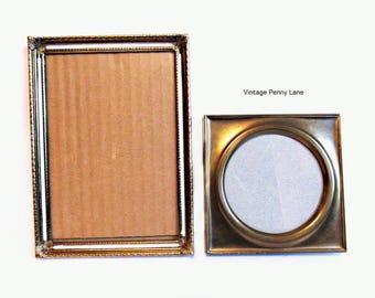 Vintage Brass Frame Lot, Metal Photograph Frames