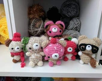 Kawaii adorable bear amigurumi plushie stuffed animal