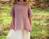 Download Now - CROCHET PATTERN Pretty Girl Poncho - Sizes 1-2 Years to Adult Ladies L / X L - Pattern PDF