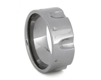 Titanium Revolver Style Wedding Band, Men's Wedding band, Statement Ring