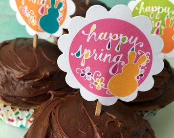 Spring Cupcake Toppers
