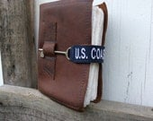 Brown Leather Journal - Coast Guard - Deployment Journal by Binding Bee