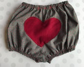 Heart Booty Baby bloomers 6-12 month size