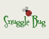 Snugglebug Ladybug Spring Embroidery design for baby