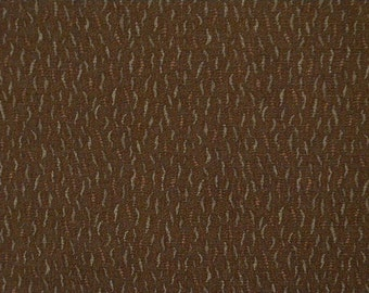 Vintage kimono S344, pecan brown colored   silk