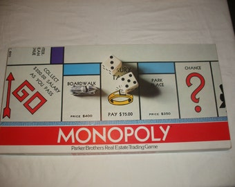Vintage Monopoly Board Game 1961 100% Complete (Court2)